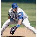 Toronto Blue Jays (2003) Eric Hinske wearing the Toronto Blue Jays road uniform in 2003