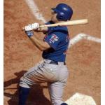 Toronto Blue Jays (2003) Reed Johnson takes a swing while wearing the Toronto Blue Jays alternate uniform in 2003