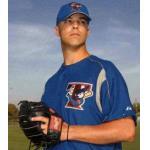 Toronto Blue Jays (2003) Jason Arnold poses in the Toronto Blue Jays batting practice uniform in 2003