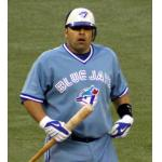 Toronto Blue Jays (2009) Rod Barajas at the plate wearing the Toronto Blue Jays throwback alternate uniform in 2009