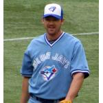 Toronto Blue Jays (2008) Scott Rolen wearing the Toronto Blue Jays retro alternate uniform during the 2008 season