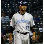 Toronto Blue Jays (2010) Alex Gonzalez wearing the Toronto Blue Jays road uniform in 2010