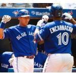 Toronto Blue Jays (2012) Edwin Encarnacion and Yunel Escobar wearing the Toronto Blue Jays alternate uniform in 2012