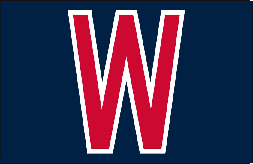 Washington Senators Logo Cap Logo (1961-1962) - Block red W with white outline on blue SportsLogos.Net