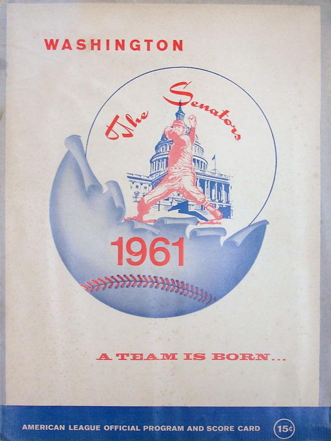 Washington Senators Program Program (1961) -  SportsLogos.Net