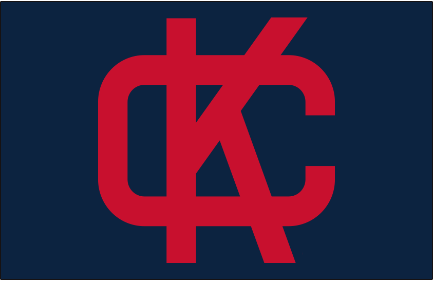 Kansas City Athletics Logo Cap Logo (1960) - Interlocked KC in red on a navy blue cap, worn by the Kansas City A's at home and on the road in 1960 SportsLogos.Net
