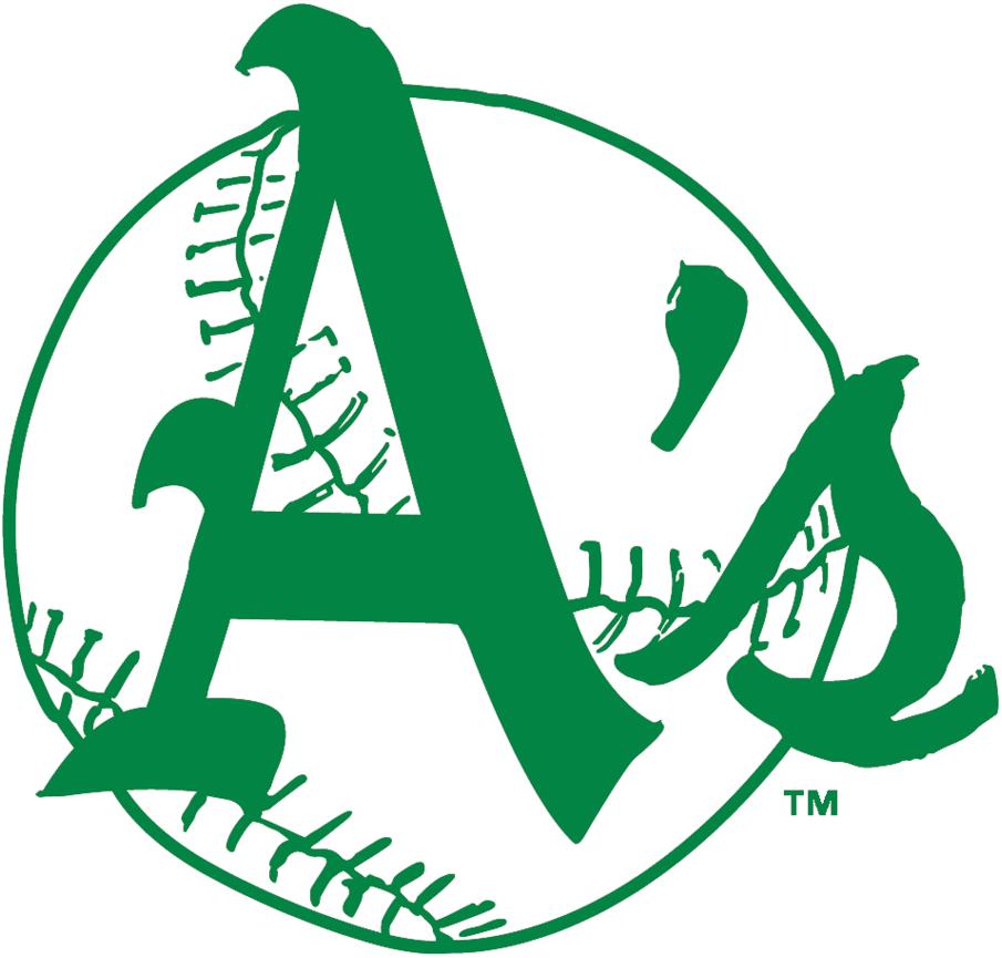 Kansas City Athletics Logo Alternate Logo (1963-1967) - Green A's on white and green baseball SportsLogos.Net