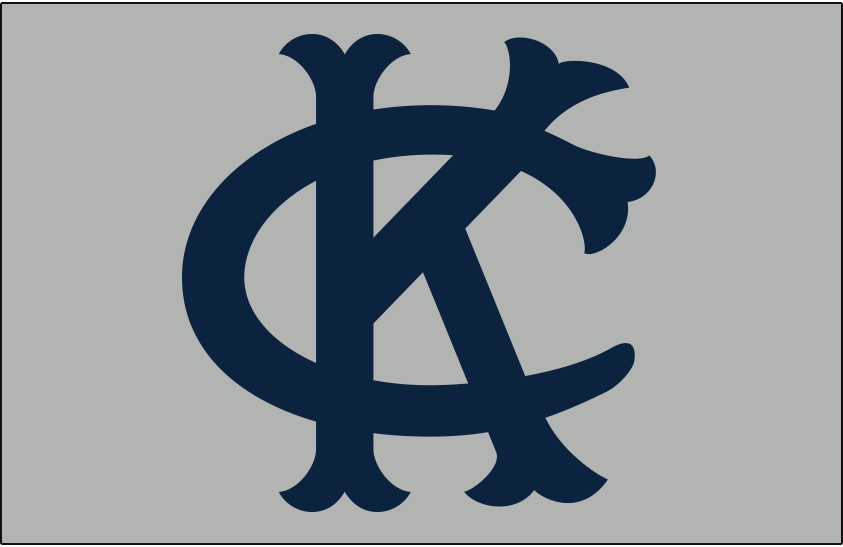Kansas City Athletics Logo Cap Logo (1962) - Interlocked KC in navy blue on a grey cap, worn by the Kansas City A's at home and on the road only in 1962 SportsLogos.Net
