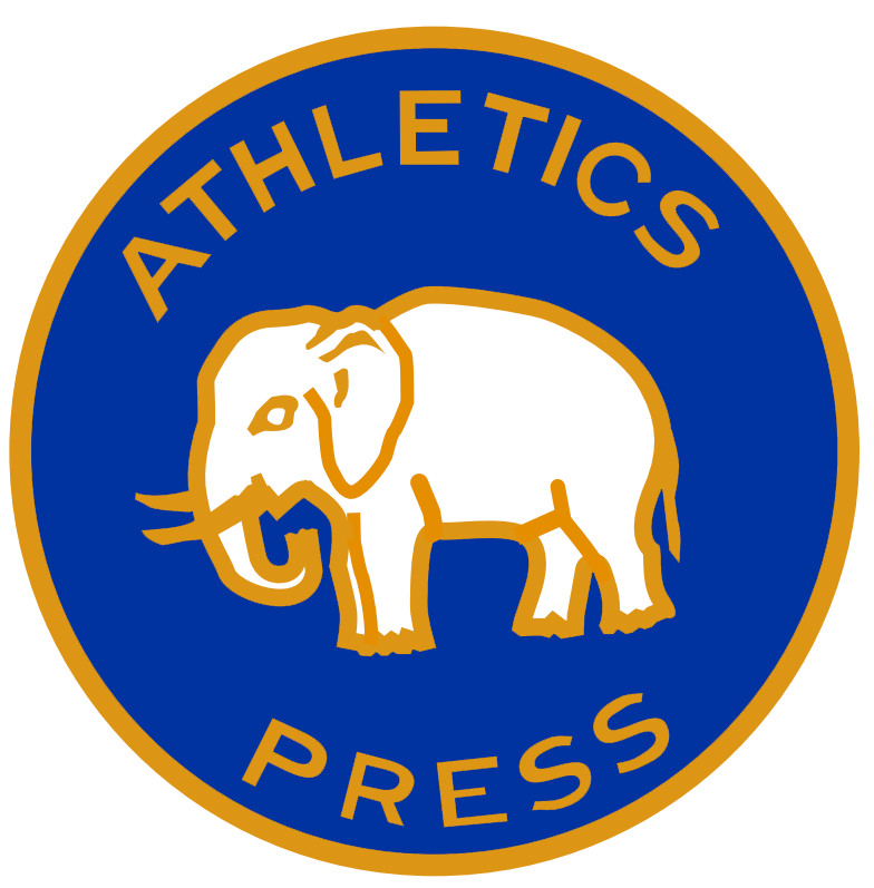 Philadelphia Athletics Logo Special Event Logo (1930) - Philadelphia Athletics press pin from the 1930 World Series. Features a white elephant outlined in gold on blue with ATHLETICS PRESS around it SportsLogos.Net