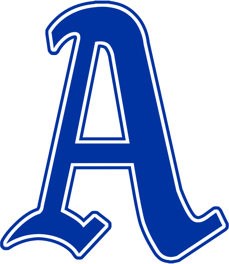 Philadelphia Athletics Logo Primary Logo (1928-1929) - A blue 'A' with white and blue trim SportsLogos.Net