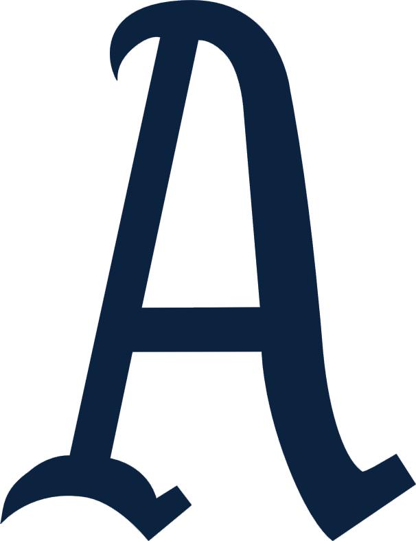 Philadelphia Athletics Logo Primary Logo (1902-1919) - A blue 'A' SportsLogos.Net
