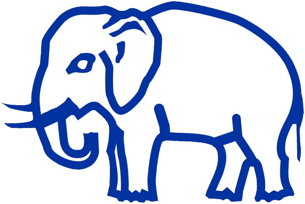 Philadelphia Athletics Logo Primary Logo (1930-1938) - A white elephant trimmed in blue SportsLogos.Net