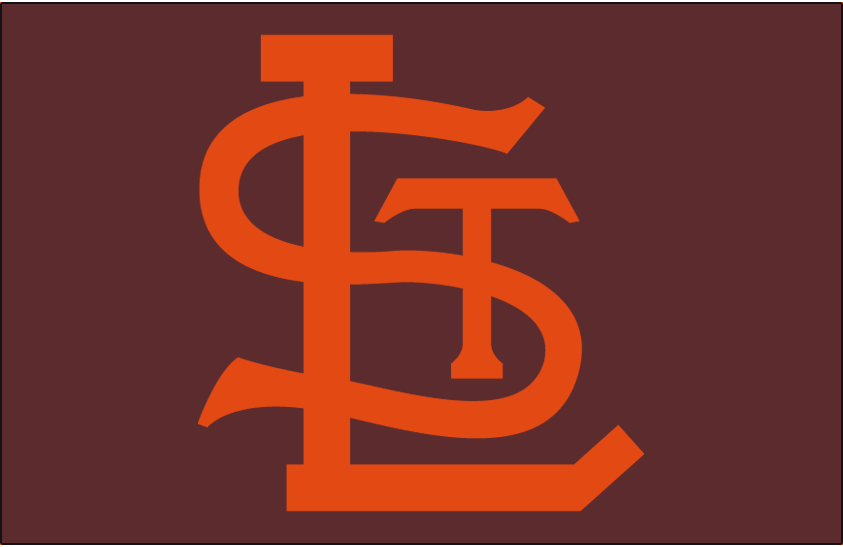 St. Louis Browns Logo Cap Logo (1950-1951) - An orange STL on brown, worn on Browns home and road cap in 1950 and 1951 SportsLogos.Net