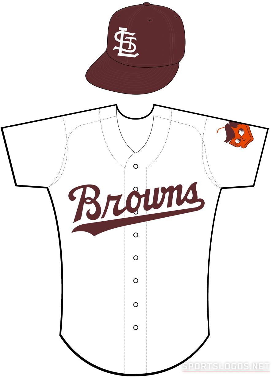 St. Louis Browns Uniform Home Uniform (1952-1953) -  SportsLogos.Net