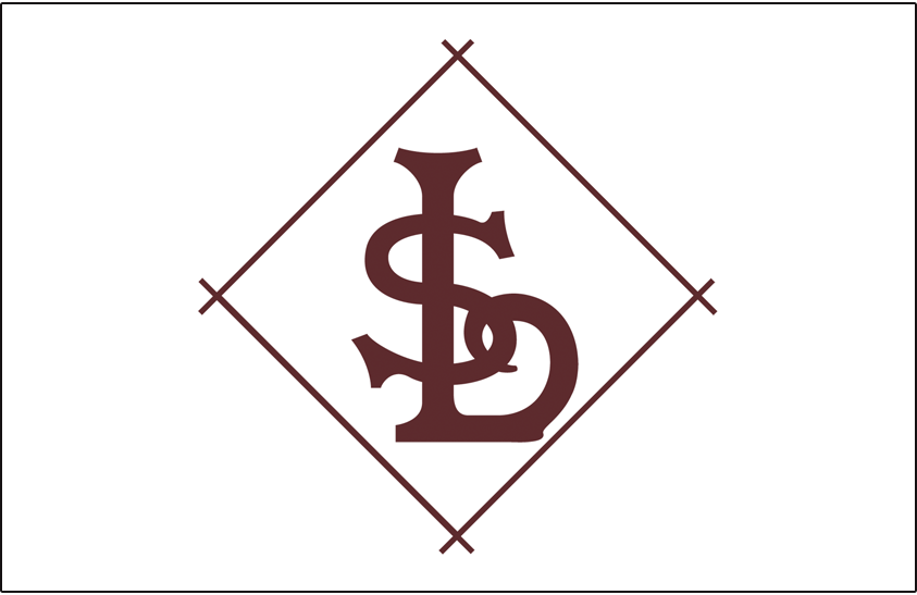 St. Louis Browns Logo Jersey Logo (1908) - A brown SL in a diamond, worn on sleeve of Browns home jersey in 1906 and on the front of the Browns home jersey in 1908 SportsLogos.Net