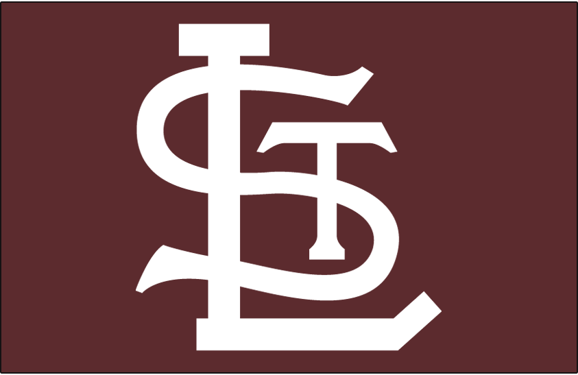 St. Louis Browns Logo Cap Logo (1952-1953) - A white STL on brown, worn on Browns home and road cap in their final two seasons, 1952 and 1953 SportsLogos.Net