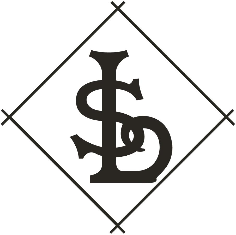 St. Louis Browns Logo Primary Logo (1906-1907) - A black 'STL' inside a black and white diamond SportsLogos.Net