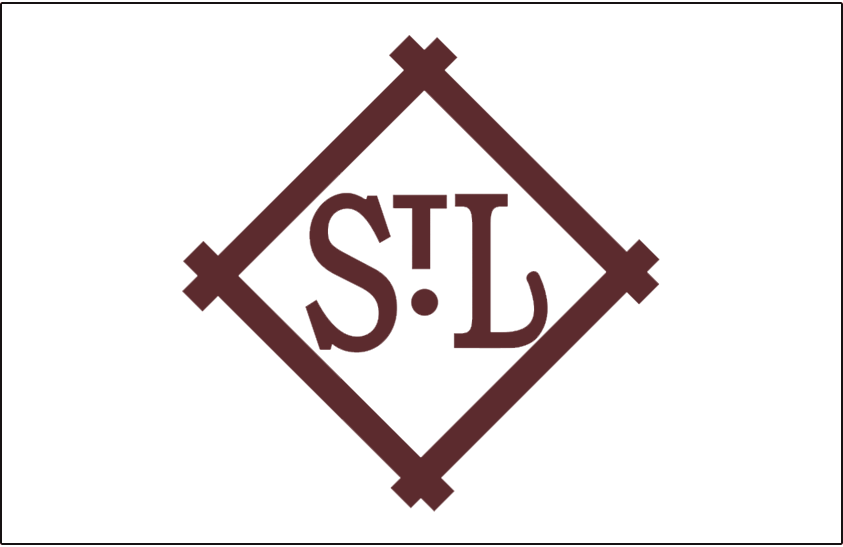 St. Louis Browns Logo Jersey Logo (1909-1910) - A brown 'STL' inside a brown and white diamond, worn on Browns home jersey in 1909 and 1910 SportsLogos.Net
