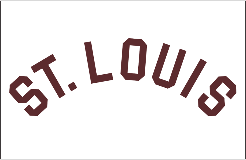 St. Louis Browns Logo Jersey Logo (1915) - St Louis arched in brown, worn on Browns home jersey in 1915 SportsLogos.Net