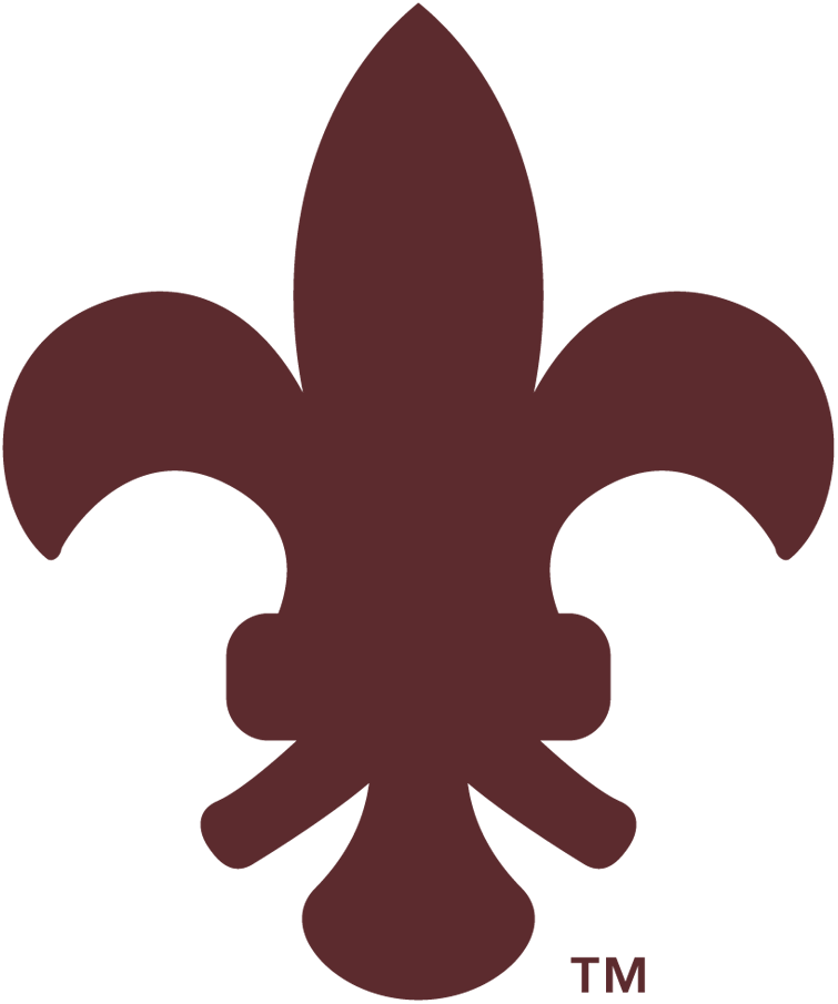 St. Louis Browns Logo Primary Logo (1908-1910) - A brown fleur-de-lis symbol, worn on the Browns caps and jersey sleeve during these seasons SportsLogos.Net