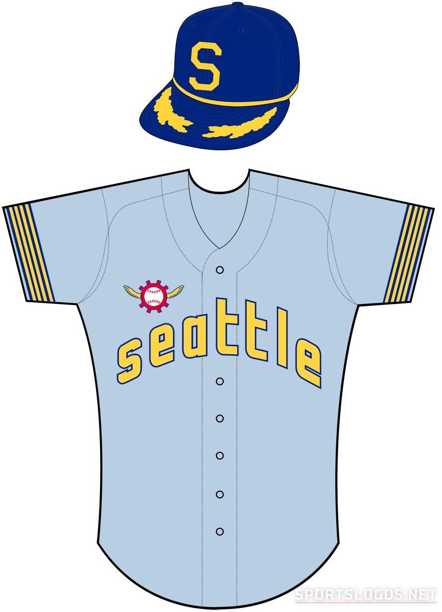 Seattle Pilots Uniform Road Uniform (1969) -  SportsLogos.Net