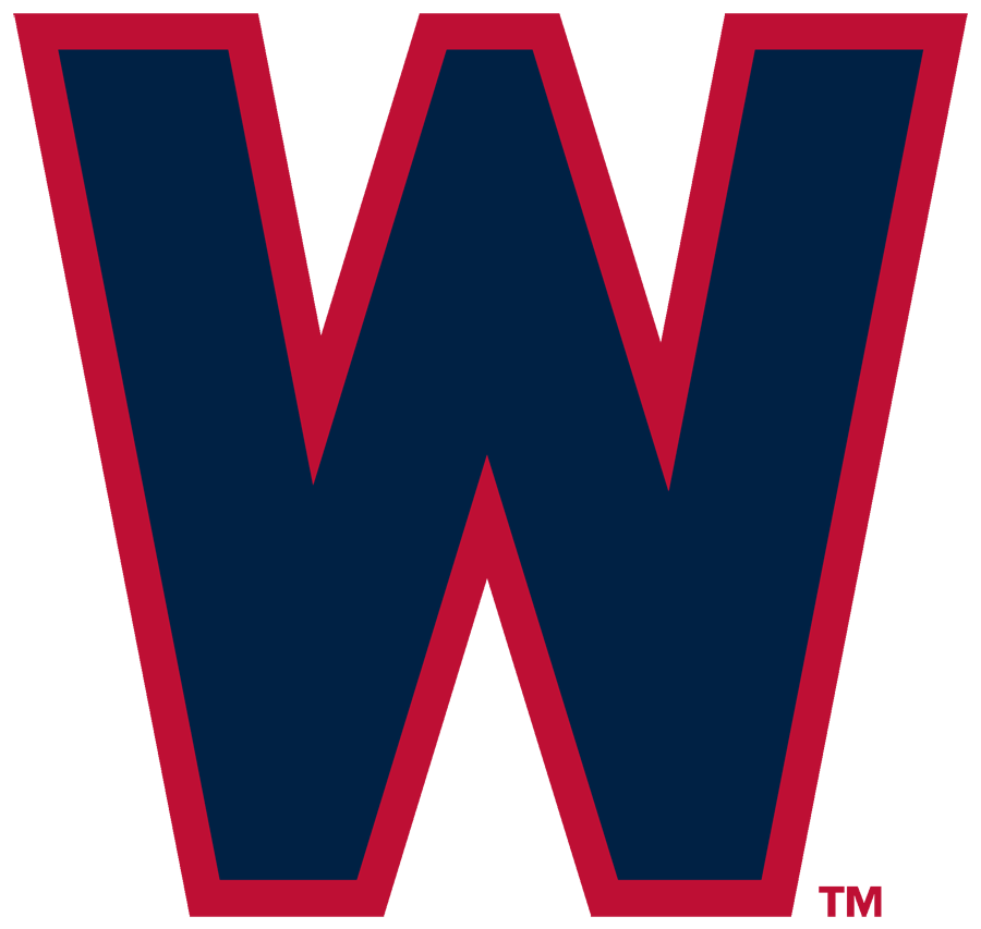 Washington Nationals Logo Primary Logo (1948-1952) - Navy blue W with red outline SportsLogos.Net