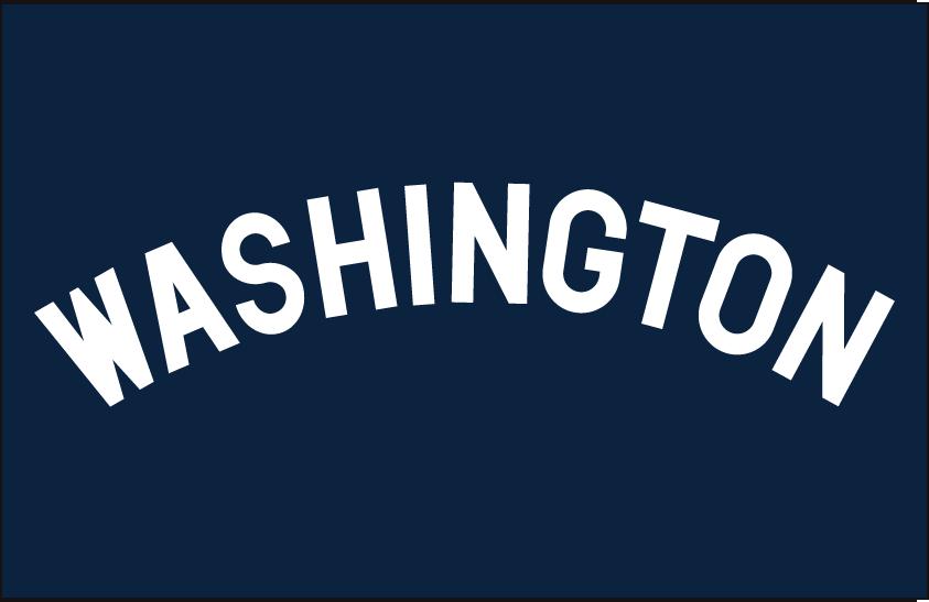 Washington Nationals Logo Jersey Logo (1907-1908) - Road jersey wordmark SportsLogos.Net