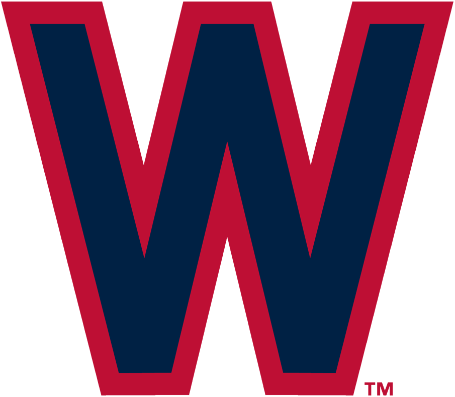 Washington Nationals Logo Primary Logo (1936-1937) - Navy blue W with red outline SportsLogos.Net