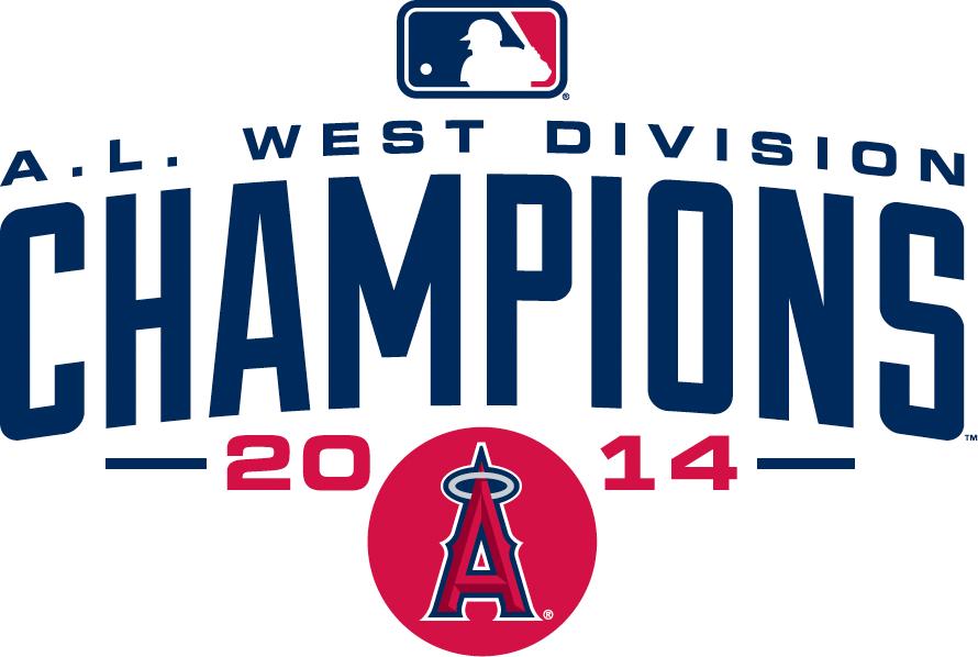 Los Angeles Angels of Anaheim Logo Champion Logo (2014) - Los Angeles Angels of Anaheim 2014 AL West Division Champions logo SportsLogos.Net