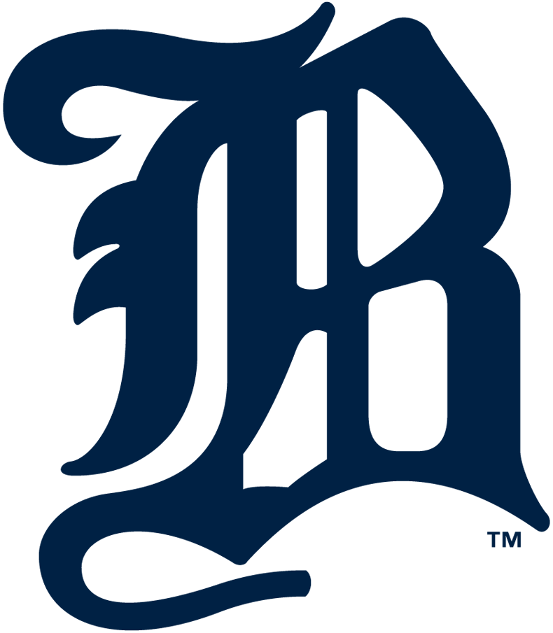 Boston Beaneaters Logo Primary Logo (1897-1899) - Calligraphic blue B SportsLogos.Net