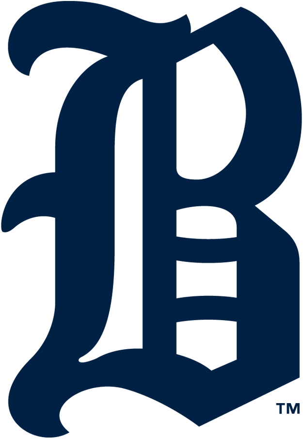 Boston Rustlers Logo Primary Logo (1911) - An 'olde-English' style navy blue 'B' SportsLogos.Net