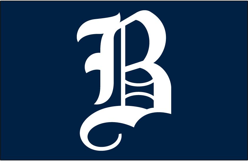 Boston Bees Logo Cap Logo (1940) - A white B on blue, worn on Boston Bees home cap in 1940 SportsLogos.Net