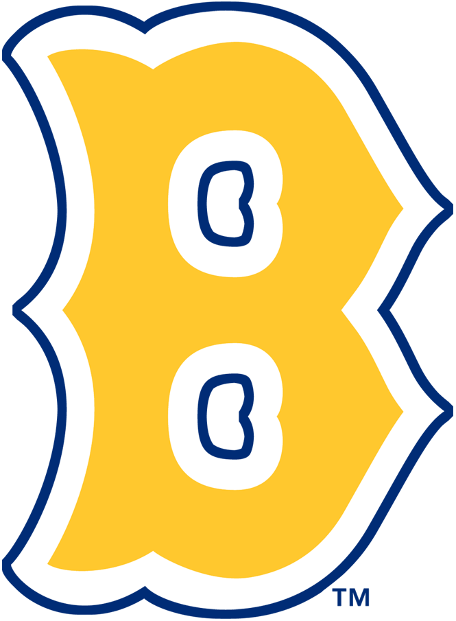 Boston Bees Logo Primary Logo (1936-1937) - An old fashioned 'B' in yellow with a blue outline SportsLogos.Net