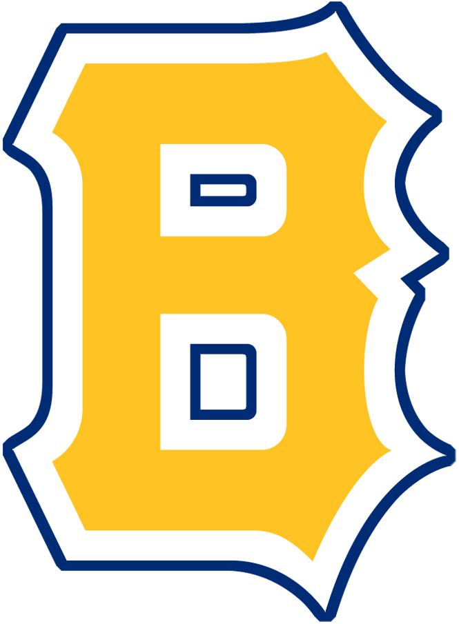 Boston Bees Logo Primary Logo (1938) - A block 'B' in yellow with a blue outline SportsLogos.Net