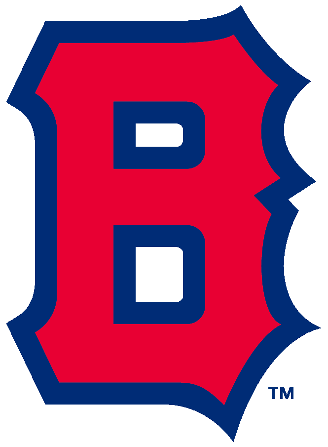 Boston Bees Logo Primary Logo (1939) - A block 'B' in red with a blue outline SportsLogos.Net
