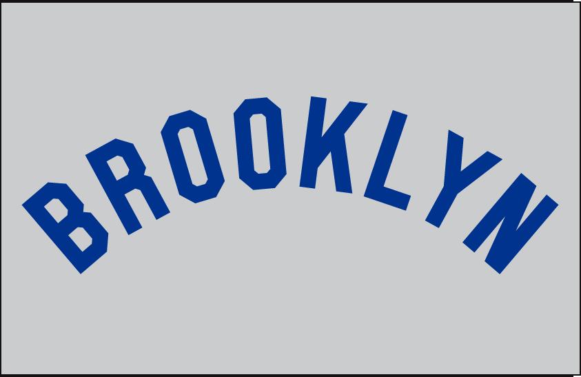 Brooklyn Robins Logo Jersey Logo (1925) - BROOKLYN arched in blue on grey, worn on Robins road jersey in 1925 SportsLogos.Net