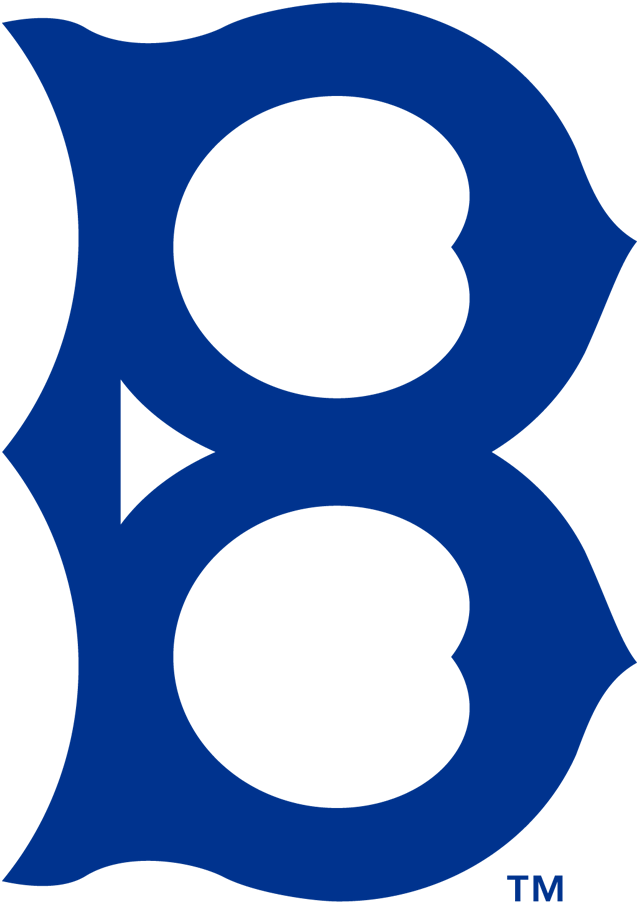Brooklyn Robins Logo Primary Logo (1914-1925) - An old-fashioned style navy blue 'B' SportsLogos.Net