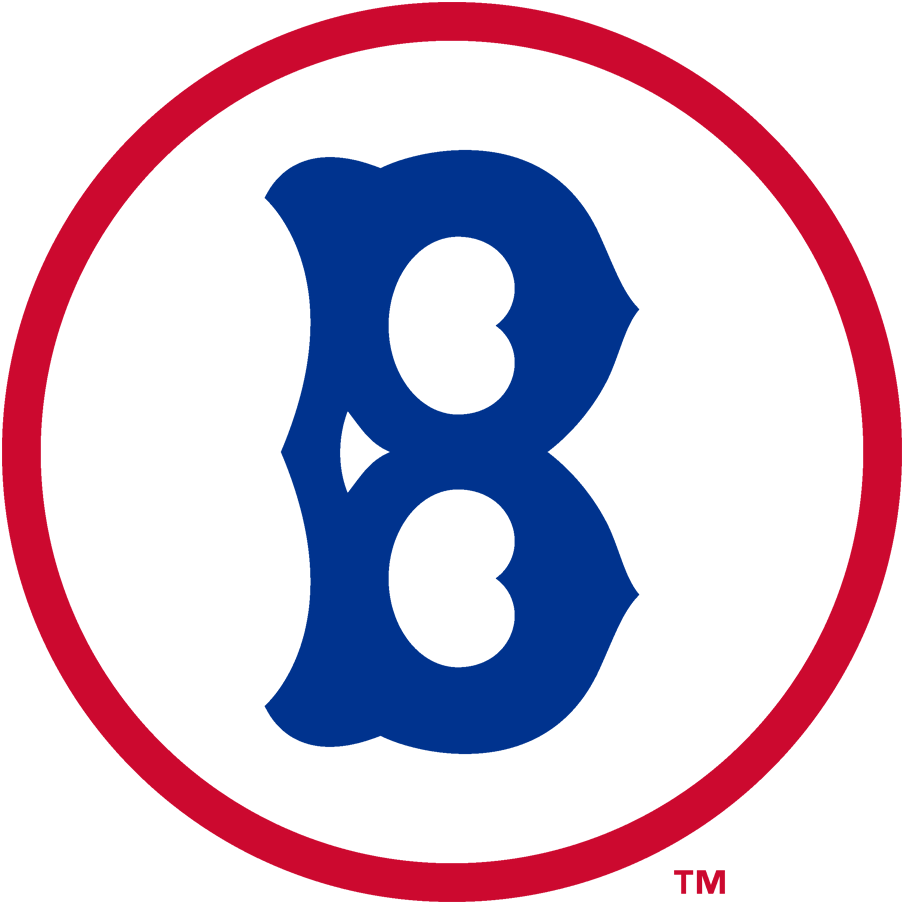 Brooklyn Robins Logo Primary Logo (1928) - An old fashioned blue 'B' inside a red and white circle SportsLogos.Net