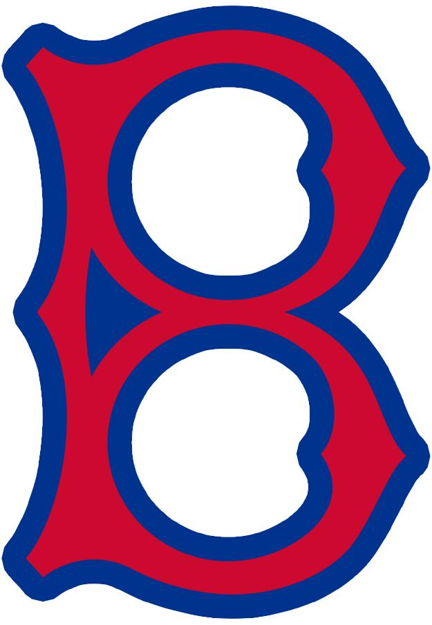 Brooklyn Robins Logo Primary Logo (1930) - An old fashioned red 'B' with a blue trim SportsLogos.Net