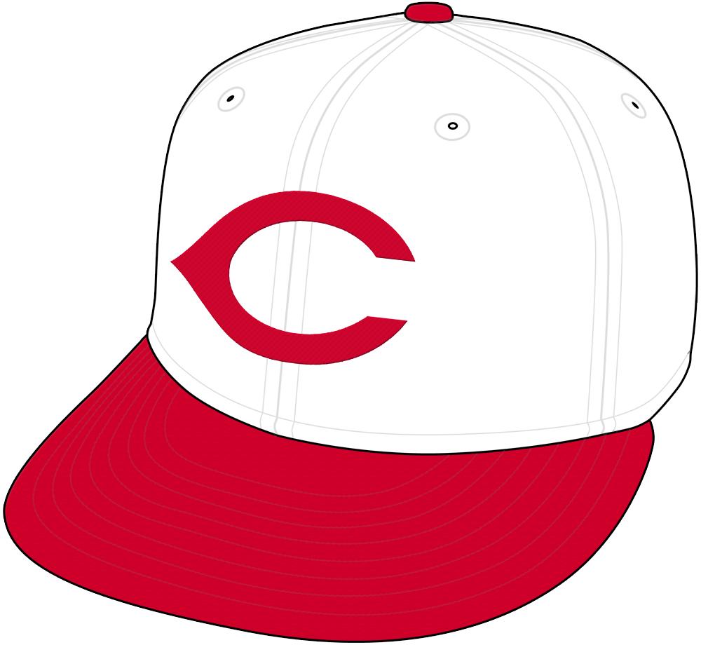 Cincinnati Redlegs Cap Cap (1957) - Cincinnati Redlegs home cap for 1957, plain white crown with red C and visor SportsLogos.Net