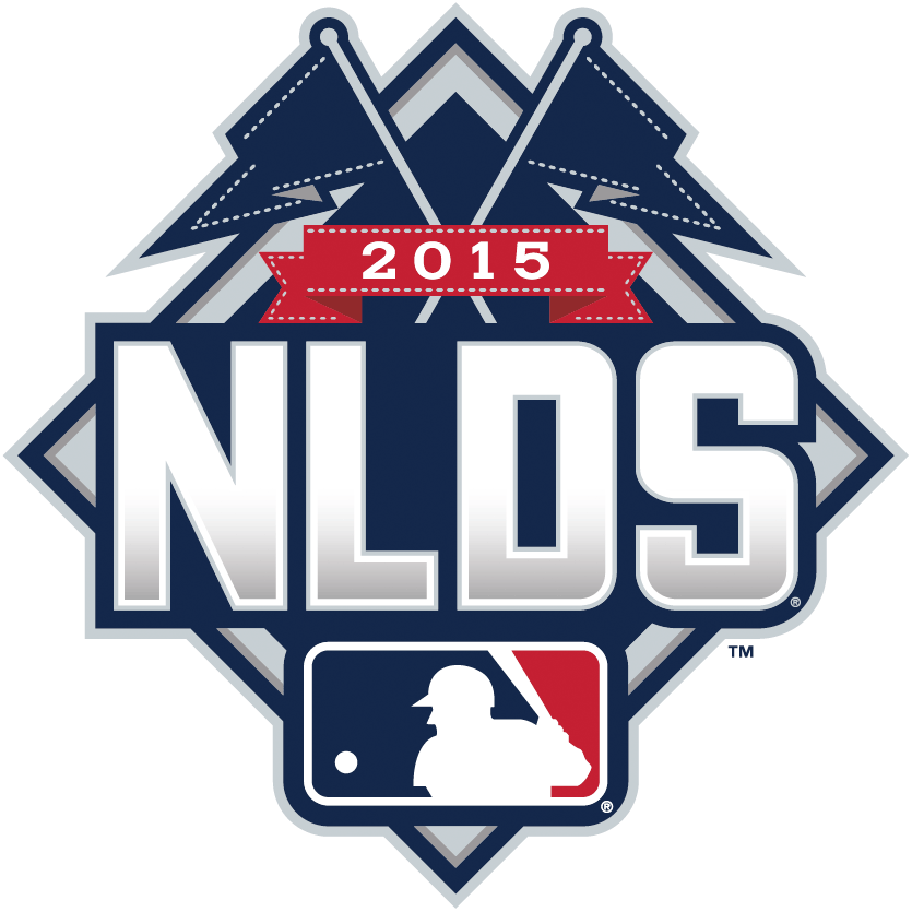 NLDS Logo Primary Logo (2015) - 2015 National League Division Series Logo - 2015 NLDS Logo - New York Mets vs Los Angeles Dodgers and St Louis Cardinals vs Chicago Cubs SportsLogos.Net