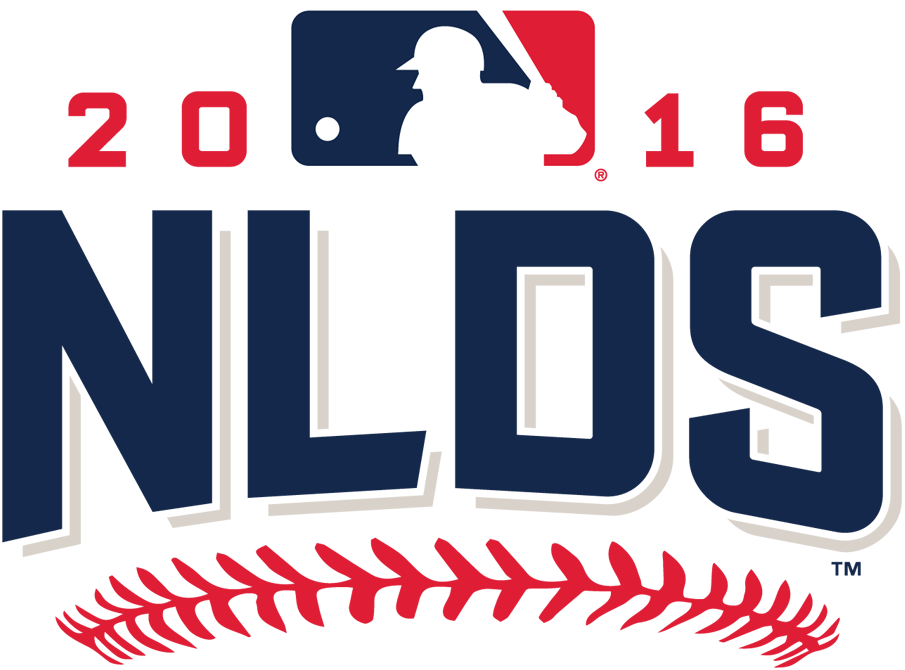 NLDS Logo Primary Logo (2016) - 2016 National League Division Series logo - Chicago Cubs defeat San Francisco Giants, LA Dodgers over Washington Nationals SportsLogos.Net