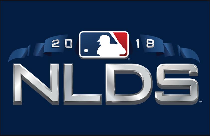 NLDS Logo Primary Dark Logo (2018) - 2018 National League Division Series Logo NLDS on blue SportsLogos.Net