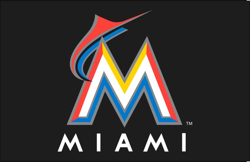 Miami Marlins Logo Primary Dark Logo (2012-2016) -  SportsLogos.Net