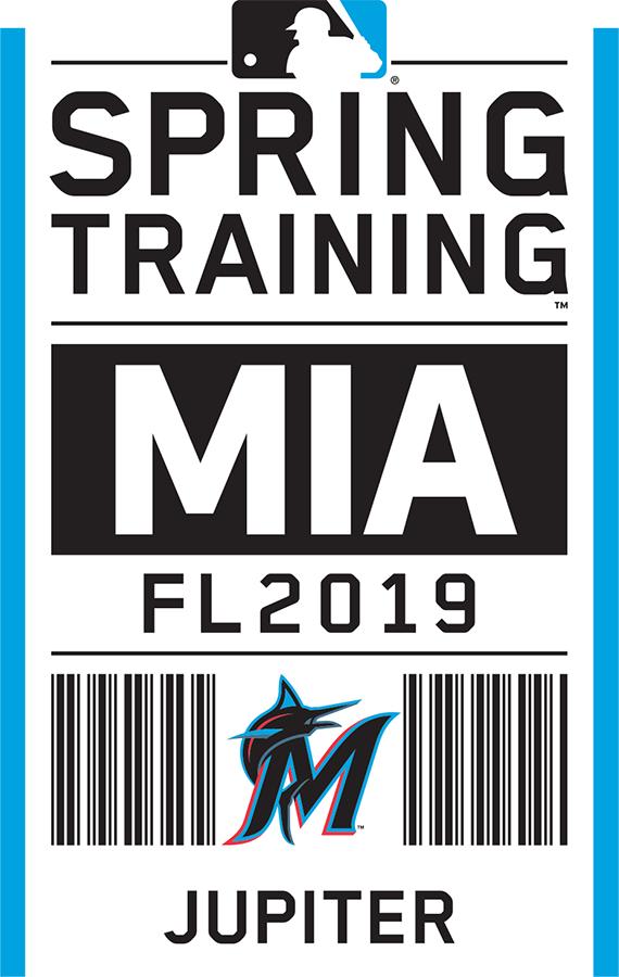 Miami Marlins Logo Event Logo (2019) - Miami Marlins 2019 Spring Training Logo SportsLogos.Net
