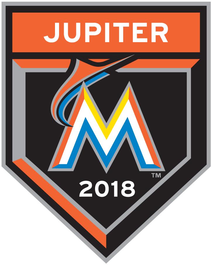 Miami Marlins Logo Event Logo (2018) - Miami Marlins 2018 Spring Training Logo SportsLogos.Net