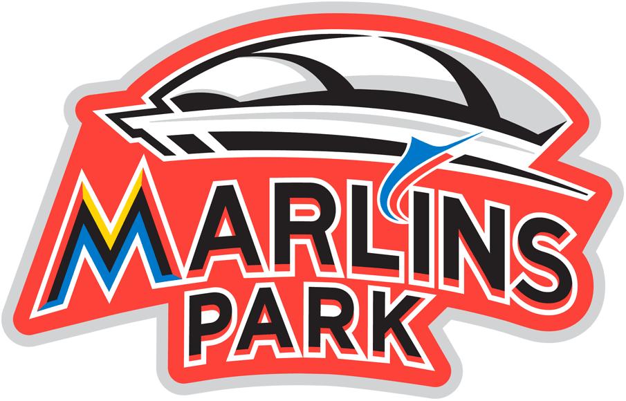 Miami Marlins Logo Stadium Logo (2012) - Marlins Park Inaugural Season Jersey Patch -- worn on Marlins home and black alternate jerseys during the 2012 season SportsLogos.Net