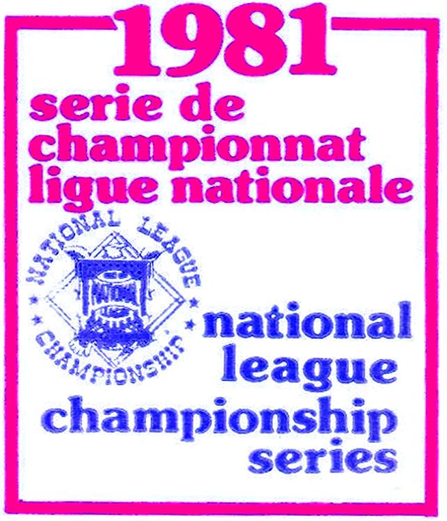 NLCS Logo Alt. Language Logo (1981) - 1981 National League Championship Series French Logo for Montreal Expos - 1981 Serie de Championnat Ligue Nationale SportsLogos.Net