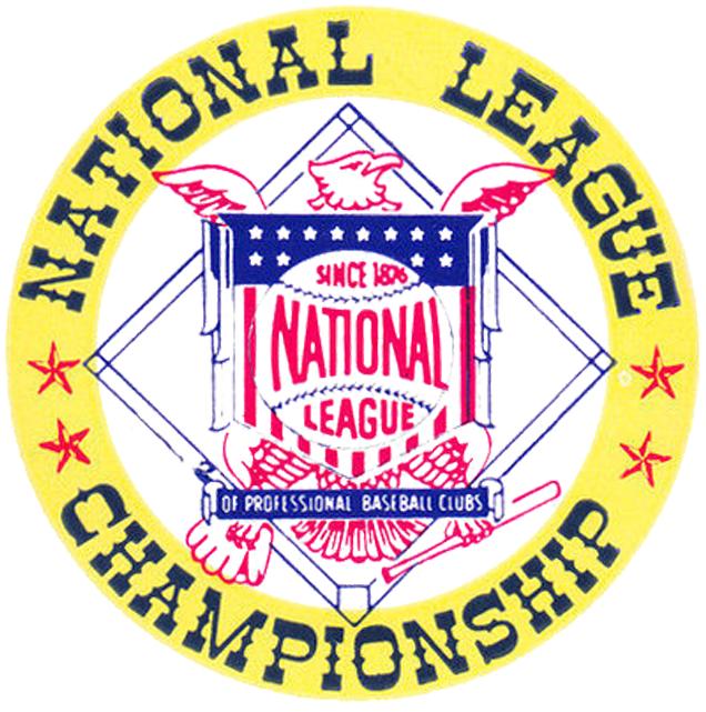 NLCS Logo Alternate Logo (1977-1984) - National League logo inside a circle with NATIONAL LEAGUE CHAMPIONSHIP written around it SportsLogos.Net