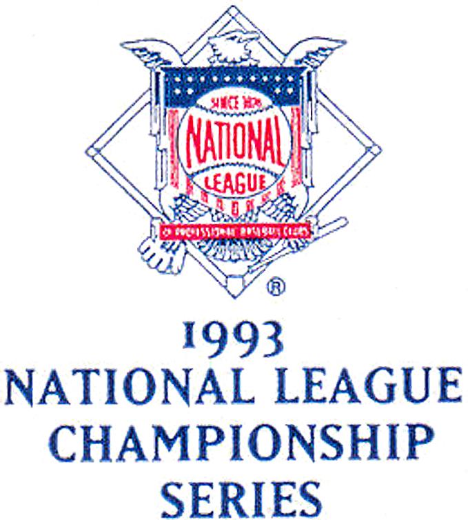 NLCS Logo Primary Logo (1993) - 1993 National League Championship Series Logo - Phillies vs Braves SportsLogos.Net